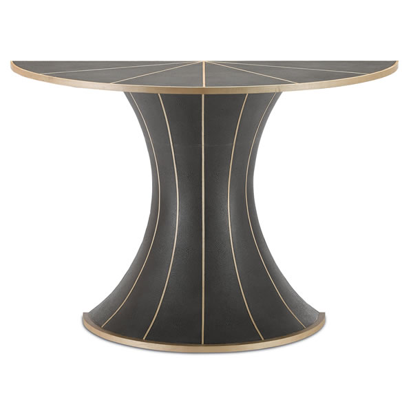 Castille Demi-Lune Table - Denise McGaha Lighting for Currey & Co