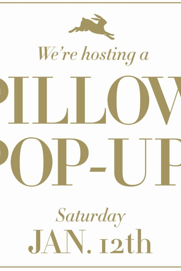 BUNGALOW CLASSIC AND DENISE MCGAHA PILLOW POP-UP SHOP